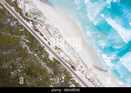 Aerial View of Great Ocean Drive in Esperance, Western Australia, Australia. Travel and Vacation concept. - Stock Photo