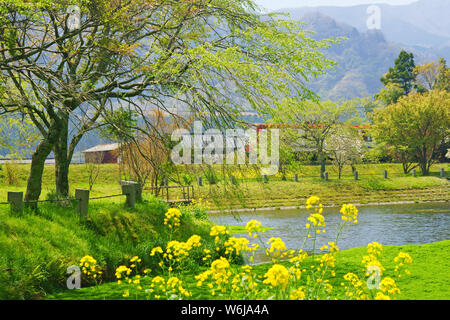 Myojin Pond Meisui Park, Kumamoto Prefecture, Japan - Stock Photo