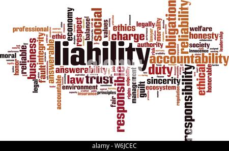 Liability word cloud concept. Collage made of words about liability. Vector illustration - Stock Photo