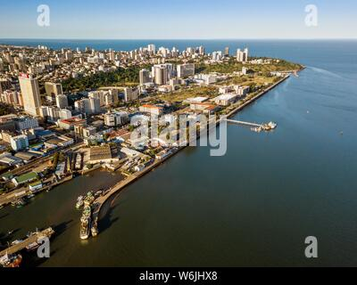 Aerial view, downtown of Maputo, Mozambique, Africa - Stock Photo