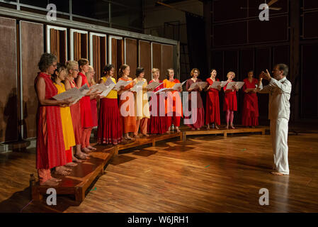 AUROVILLE, INDIA, March 2019: Women choir - Stock Photo