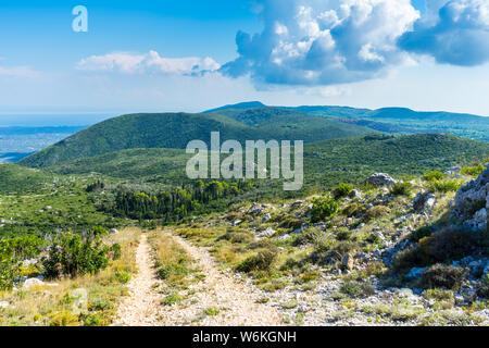 Greece, Zakynthos, Trail to beautiful green mountains - Stock Photo