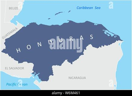 The Honduras region map in Central America - Stock Photo