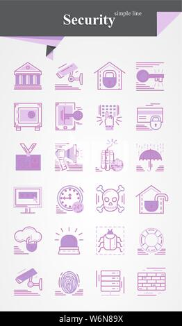 Vector security icon,sign,symbol ,pictogram - Stock Photo
