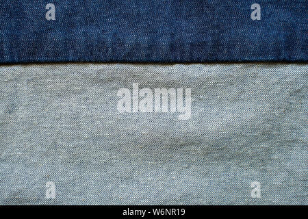 Navy blue fabric texture background top view. - Stock Photo