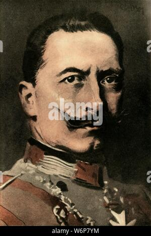 "'William II., German Emperor', 1910. Portrait of Kaiser Wilhelm II (1859-1941). From ""The Strand Magazine, an illustrated monthly"", Volume XL - July to December 1910. [George Newnes Ltd, London, 1910] - Stock Photo"