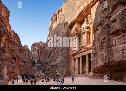 The Treasury or Al-Khazneh in Petra, Jordan.