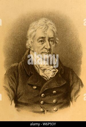 'Henry Grattan', c1820, (c1880). Henry Grattan (1746-1820) Irish politician and member of the Irish House of Commons, who campaigned for legislative freedom for the Irish Parliament, he opposed the Act of Union 1800 merging Ireland and Great Britain, but later sat as a member of the united Parliament in London.  [Blackie & Son, London, Glasgow & Edinburgh] - Stock Photo
