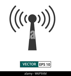 Wifi signal vector icon. isolated on white background. Vector illustration EPS 10
