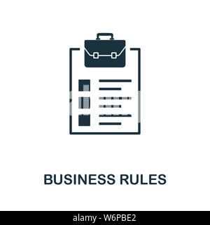 Business Rules icon illustration. Creative sign from icons collection. Filled flat Business Rules icon for computer and mobile. Symbol, logo graphics. - Stock Photo