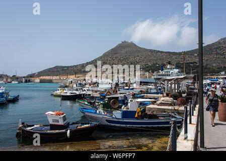 Marina at Favignana Island, Sicily - Stock Photo