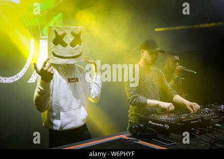 Brezje, Croatia - 20th July, 2019 : Dj Sid Cisse performs on the Forestland, ultimate forest electronic music festival located in Brezje, Croatia. - Stock Photo
