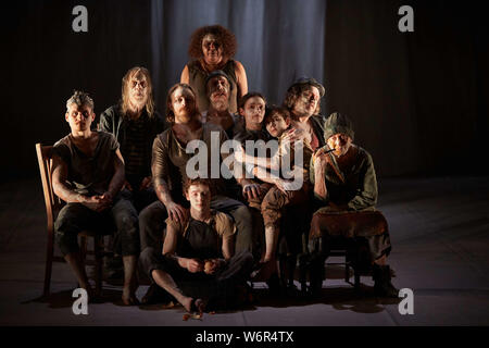 Edinburgh, Scotland. UK. 2nd August 2019. Press call The Secret River part of Edinburgh International festival 2019. Andrew Eaton/Alamy Live News. - Stock Photo