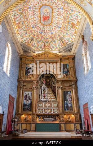 Coimbra University Chapel or Sao Miguel Chapel is a chapel of University of Coimbra. The chapel is a tourist attrac - Stock Photo