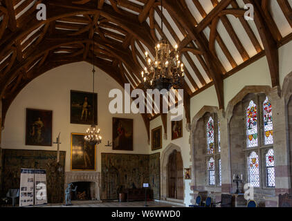 Great hall inside Berkeley castle, Gloucestershire, England, UK - Stock Photo