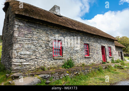 Slea Head Famine Cottages at Fahan on the Dingle Peninsula, County Kerry, Republic of Ireland