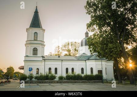 Sacred Heart of Jesus Church in Suwalki. Suwalki, Podlasie, Poland. - Stock Photo