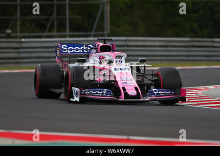 Budapest, Hungary, 03rd Aug, 2019. #11 Sergio Perez, Racing Point F1 Team, Mercedes. Hungarian GP, Budapest 2-4 August 2019 Credit: Independent Photo Agency/Alamy Live News Live News Live News Live News Credit: Independent Photo Agency Srl/Alamy Live News Credit: Independent Photo Agency Srl/Alamy Live News Credit: Independent Photo Agency Srl/Alamy Live News Credit: Independent Photo Agency Srl/Alamy Live News - Stock Photo