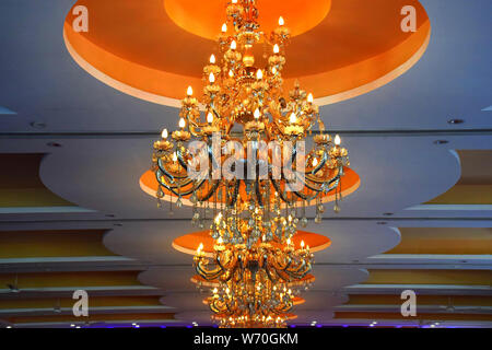rooftop beautiful chandelier with light - Stock Photo