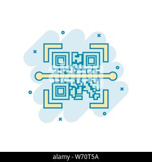 Qr code scan icon in transparent style  Scanner id vector