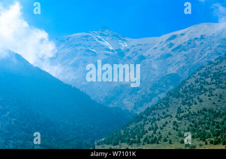 view of mountains in Ala Archa, Kyrgyzstan - Stock Photo