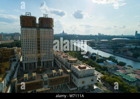 aerial view of Russian Academy of Sciences in Moscow - Stock Photo