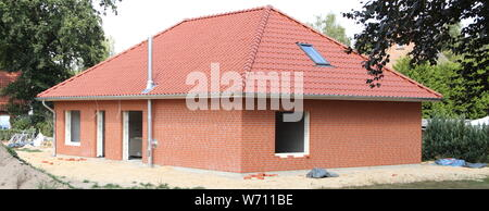 a house rough construction - Stock Photo