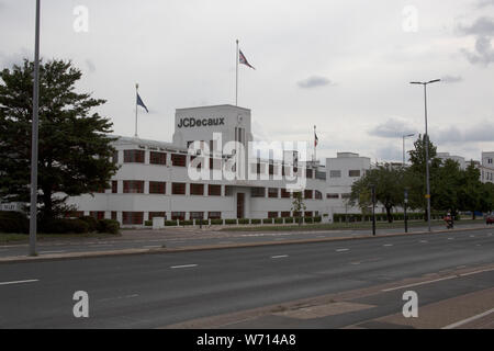 JCDecaux UK head office in an Art Deco Building on the Great West Road, Brentford, London Middlesex UK - Stock Photo