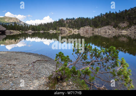 Lake Servaz. Mont Avic natural park. Valle d'Aosta. - Stock Photo