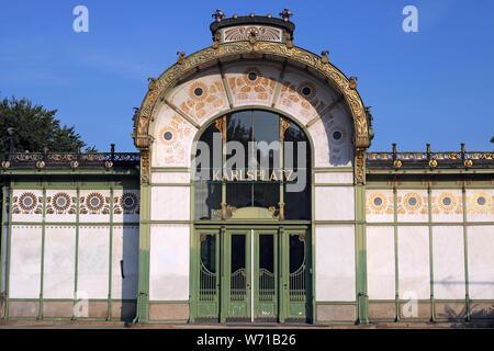 Karlsplatz Subway Station in Vienna Austria - Stock Photo