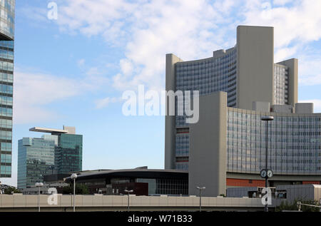 The Vienna International Centre The United Nations buildings Austria - Stock Photo