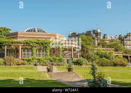 Sun Pavilion at the Valley Gardens in Harrogate (or Harrogate Spa) a spa town in North Yorkshire, England.