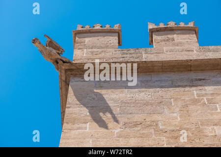 The Llotja de la Seda  (Medieval Silk Exchange), a late Valencian Gothic-style civil building in Valencia, Spain. - Stock Photo