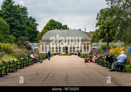 Greenhouse in Sheffield Botanical Gardens - Summer 2019 - Stock Photo