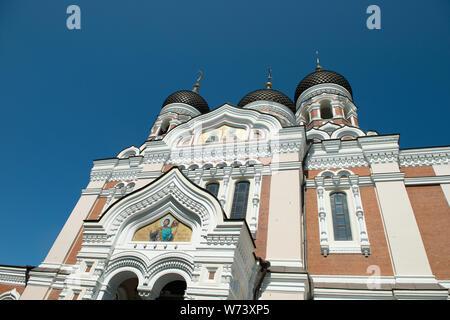 Alexander Nevsky Cathedral in Tallinn - Stock Photo