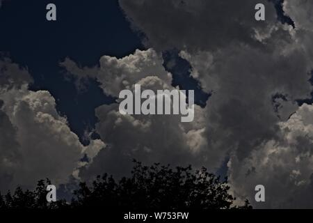 Thunder Clouds over Canyon, Texas - Stock Photo