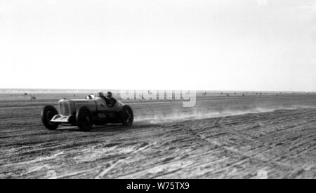 Southport beach motor racing in 1934 - Stock Photo