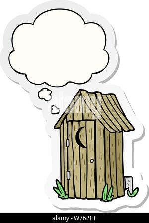 wooden outdoor toilet vector illustration vector