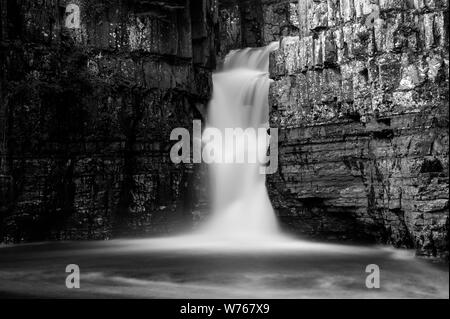 High Force Waterfall In the North Pennines AONB - Stock Photo