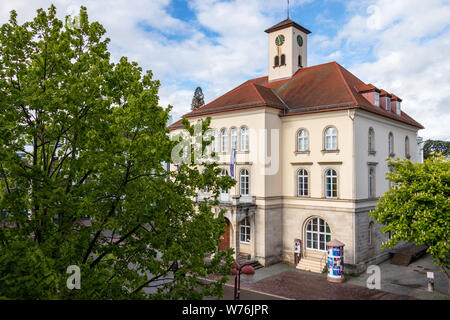 Sindelfingen, Baden Wurttemberg/Germany - May 11, 2019: Detail view on City Gallery building, Stadtgalerie and vegetation. - Stock Photo