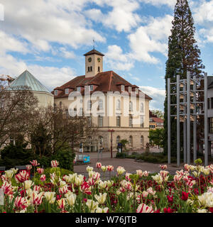 Sindelfingen, Baden Wurttemberg/Germany - May 11, 2019: City Gallery building, Stadtgalerie and cityhall square. - Stock Photo