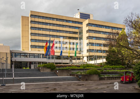 Sindelfingen, Baden Wurttemberg/Germany - May 11, 2019: Panorama of municipal Townhall Building, Stadtverwaltung. - Stock Photo