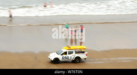 RNLI Beach patrol - Stock Photo