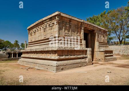 Underground Shiva Temple (Prasanna Virupaksha Temple), Hampi, UNESCO world heritge site, Karnataka, India - Stock Photo