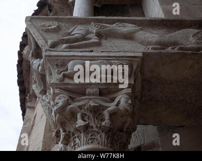 details of Corinthian capitals in Verona - Stock Photo