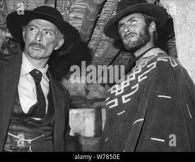 LEE VAN CLEEF, CLINT EASTWOOD, FOR A FEW DOLLARS MORE, 1965 - Stock Photo