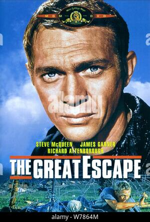 STEVE MCQUEEN POSTER, THE GREAT ESCAPE, 1963 - Stock Photo