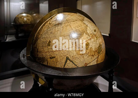16th century terrestrial globe in the Mercator museum about the history of cartography, Sint-Niklaas, East Flanders, Belgium - Stock Photo