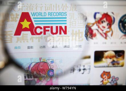 --FILE--A Chinese netizen browses Chinese video sharing website AcFun in Beijing, China, 19 November 2015.      One of China's most popular video-shar - Stock Photo