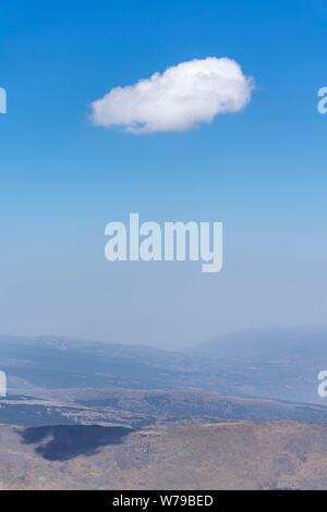 Landscape of Sierra Nevada,summits of Mulhacen and Veleta. - Stock Photo